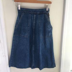 Vintage jean skirt.